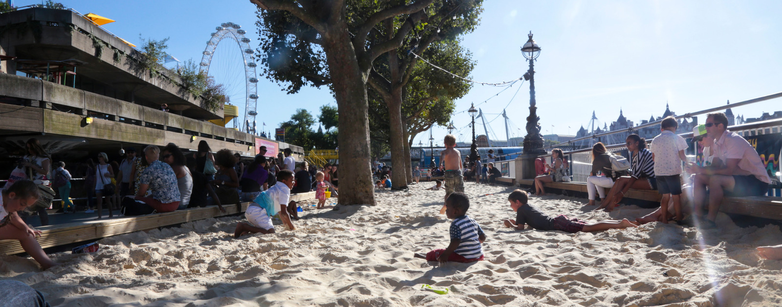 Image result for beach on the southbank london