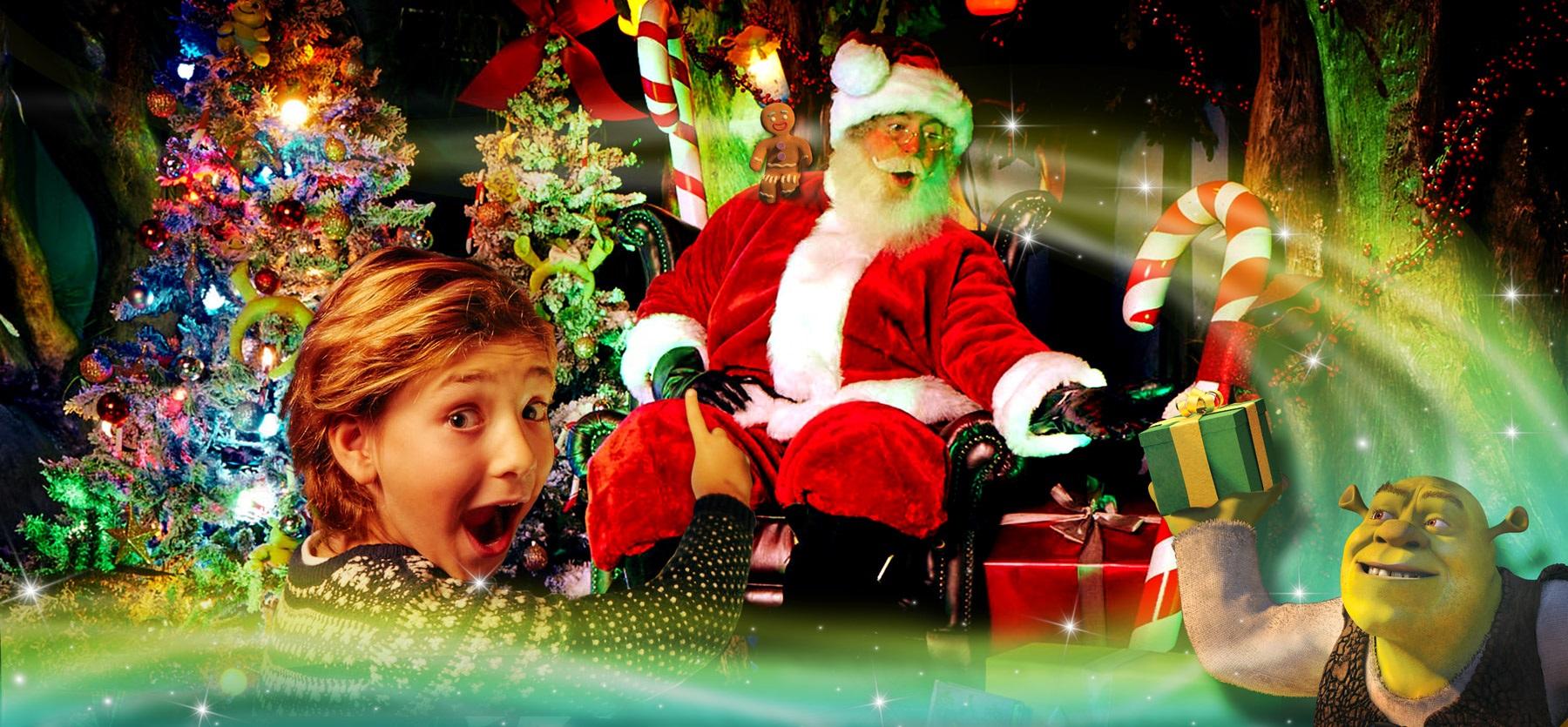 Shrek Christmas.Santa S Landed In Far Far Away South Bank London